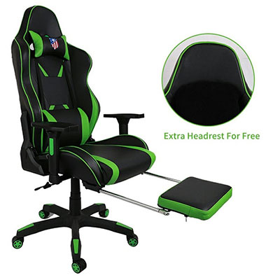 Brilliant 10 Best Gaming Chairs With Footrest For Gamers 2018 Bralicious Painted Fabric Chair Ideas Braliciousco