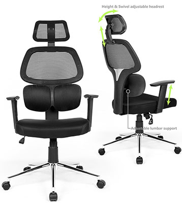 #2: Coavas Ergonomic Mesh Office Chair With High Back