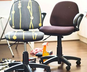 Reupholstering An Office Chair Fabric Reupholsterofficechair Officechairistcom This Is How To Reupholster Your Worn Out Office Chair