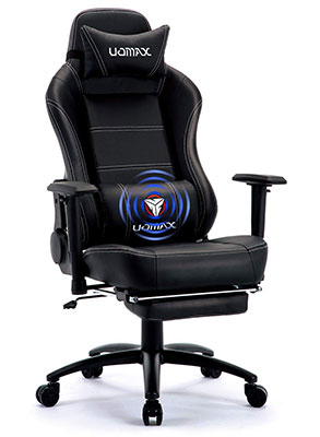 Uomax Gaming Chair Big And Tall Ergonomic Rocking Desk