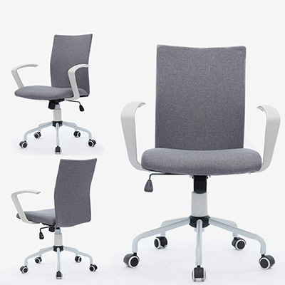 Magnificent Dj Wang Grey Computer Desk Chair Front Back And Side Ncnpc Chair Design For Home Ncnpcorg