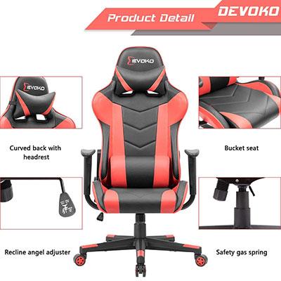 Devoko Ergonomic Gaming Chair Features Officechairist Com
